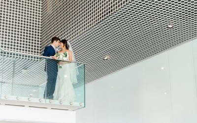 Tampa Museum of Art Romantic Modern Wedding