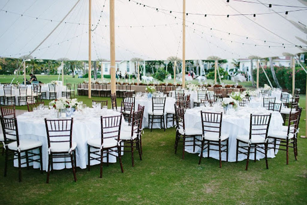 Round Tables at Tent Wedding