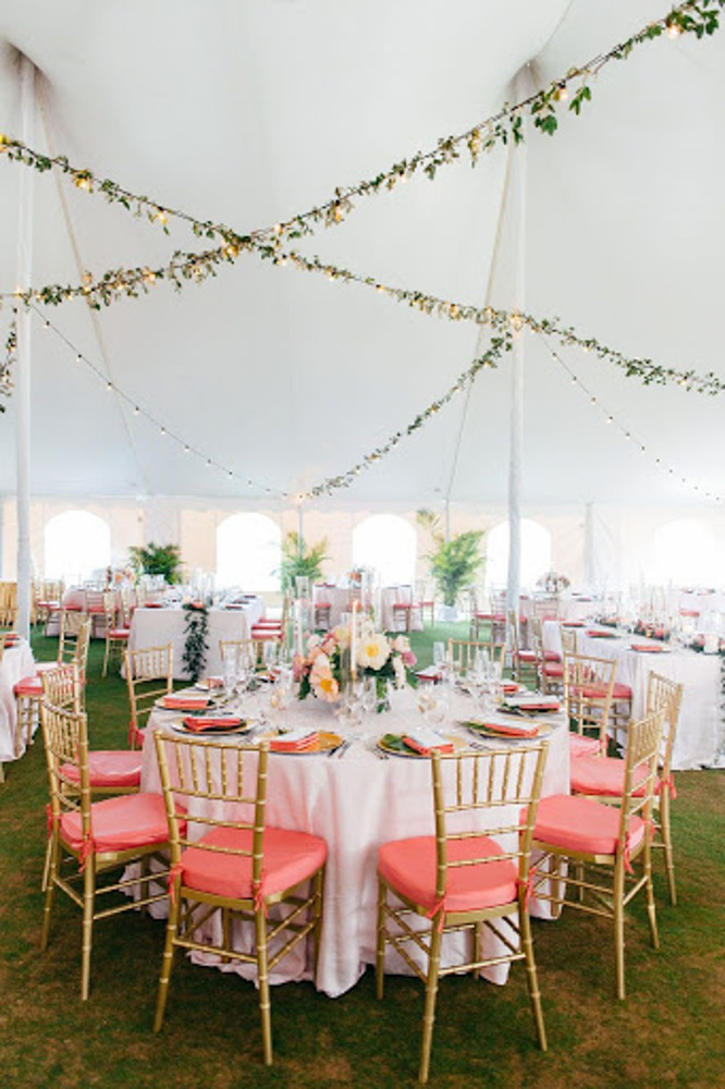 Wedding Decor in Tent
