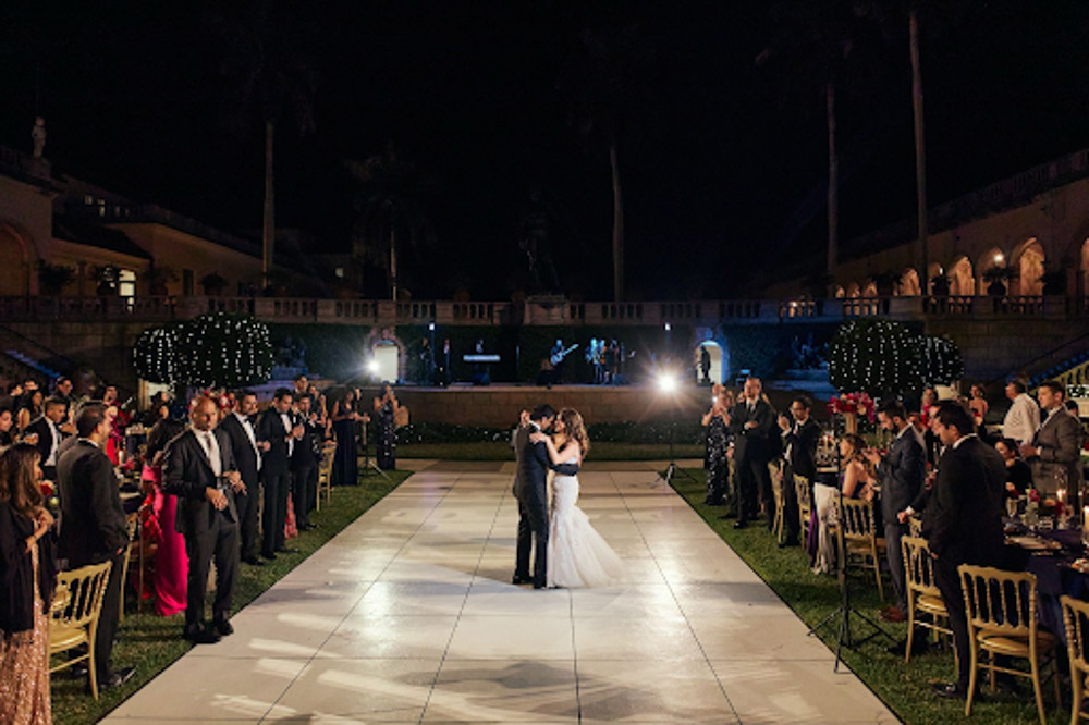 Bride and Groom First Dance at Indian Fusion Wedding