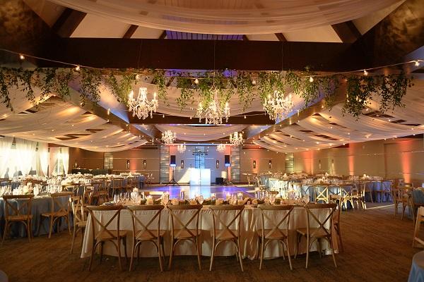 indoor wedding reception at Selby Gardens