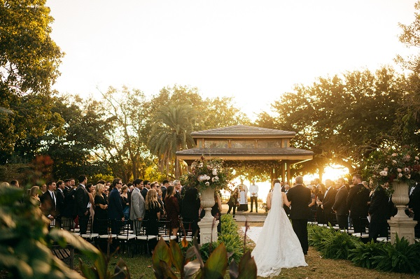 Nk Productions wedding ceremony at Selby Gardens