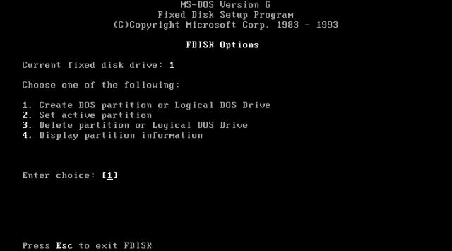 MS DOS 6.22 TÉLÉCHARGER