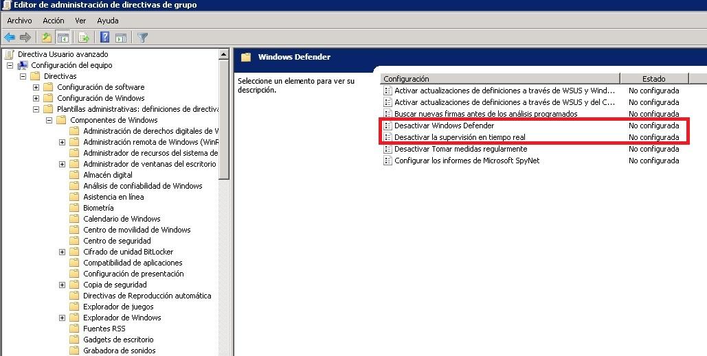 como desactivar windows defender windows 10 64 bits