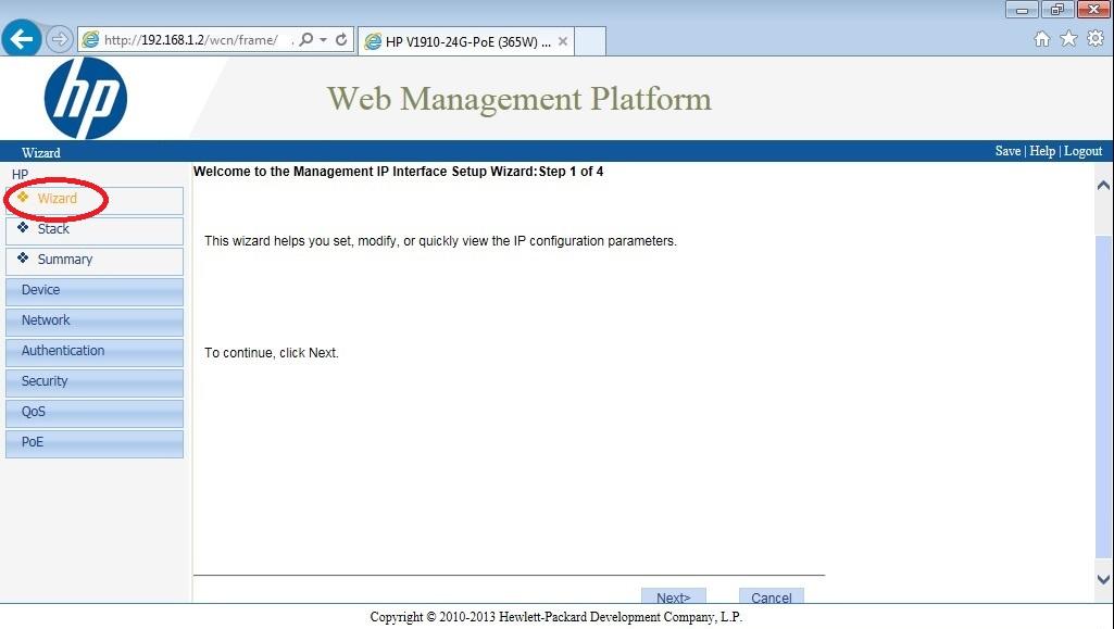 Configurar Gateway en HP v1910 – NKSistemas