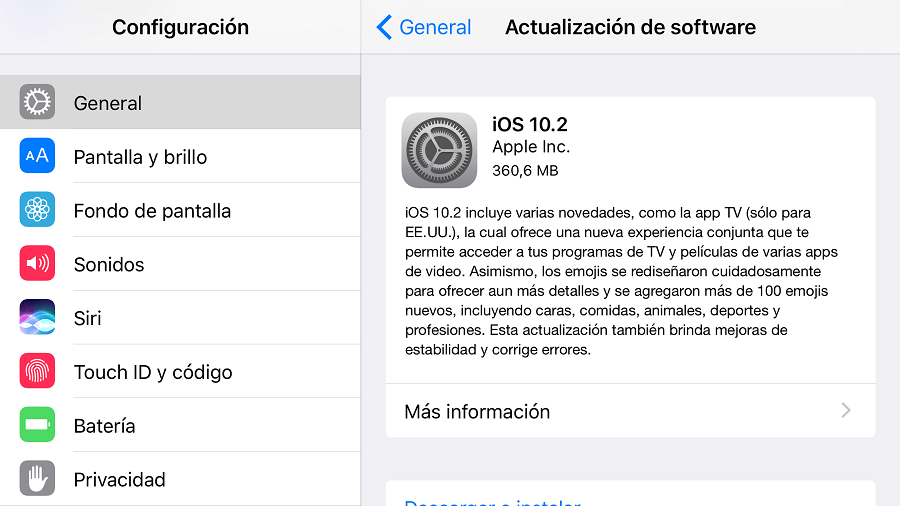 iOS 10.2 para iPhone y iPad se encuentra disponible para su descarga ...