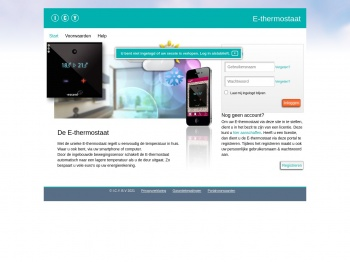 E-thermostaat webportal