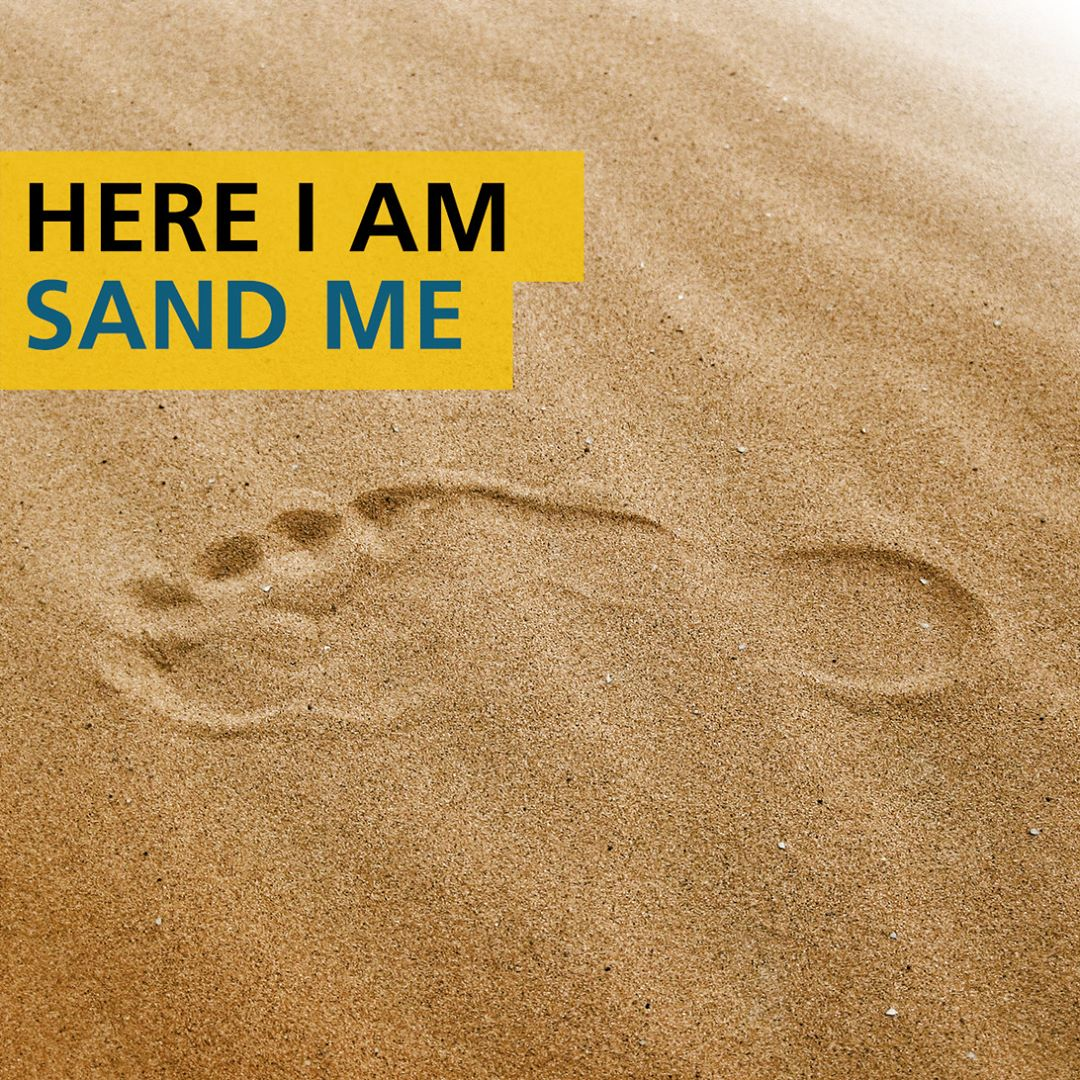 Here am Sand me