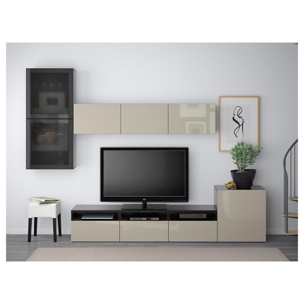Ikea Tv Meubel Zwartbruin.Ikea Tv Paneel Besta