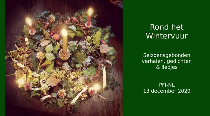 Rond het Wintervuur 2020 - kerstkrans - puur decoratief