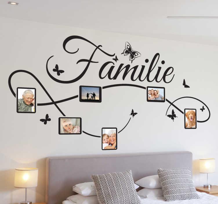 Sticker decoratie familie fotokader  TenStickers