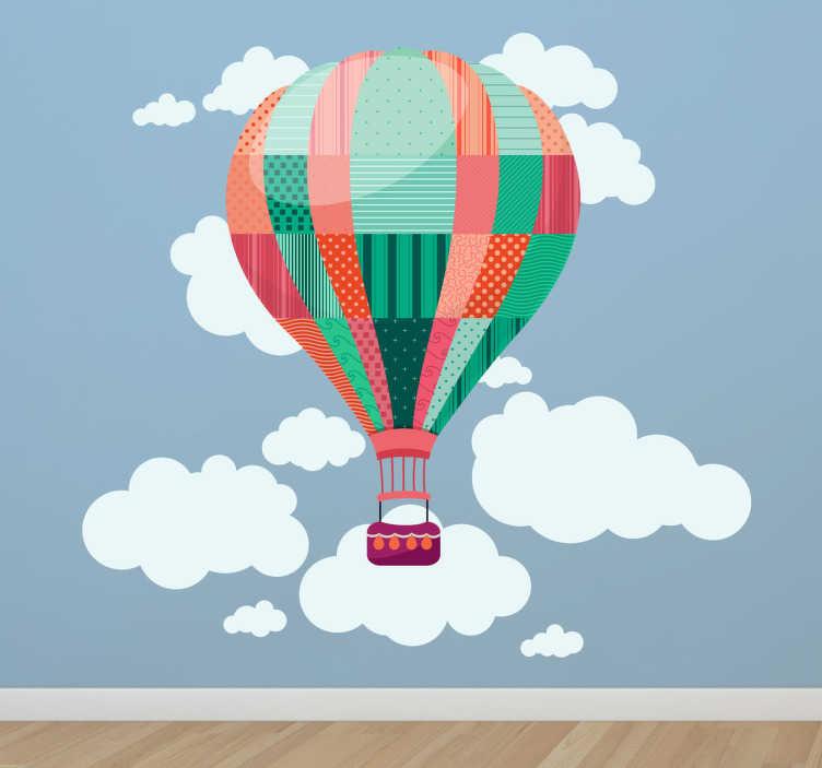 Sticker kind luchtballon wolken  TenStickers