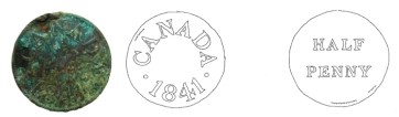 A copper token issued by Duncan and Co., a Montreal hardware firm in the mid-nineteenth century