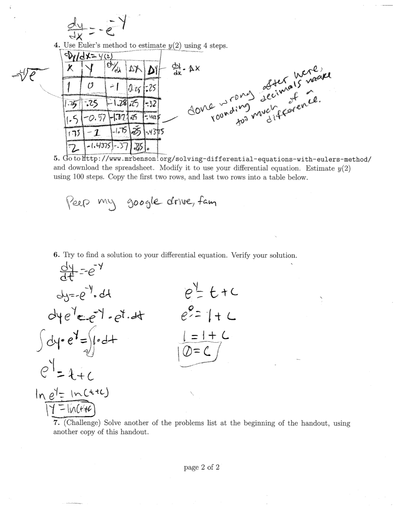 Differential Equations Slope Fields And Euler S Method