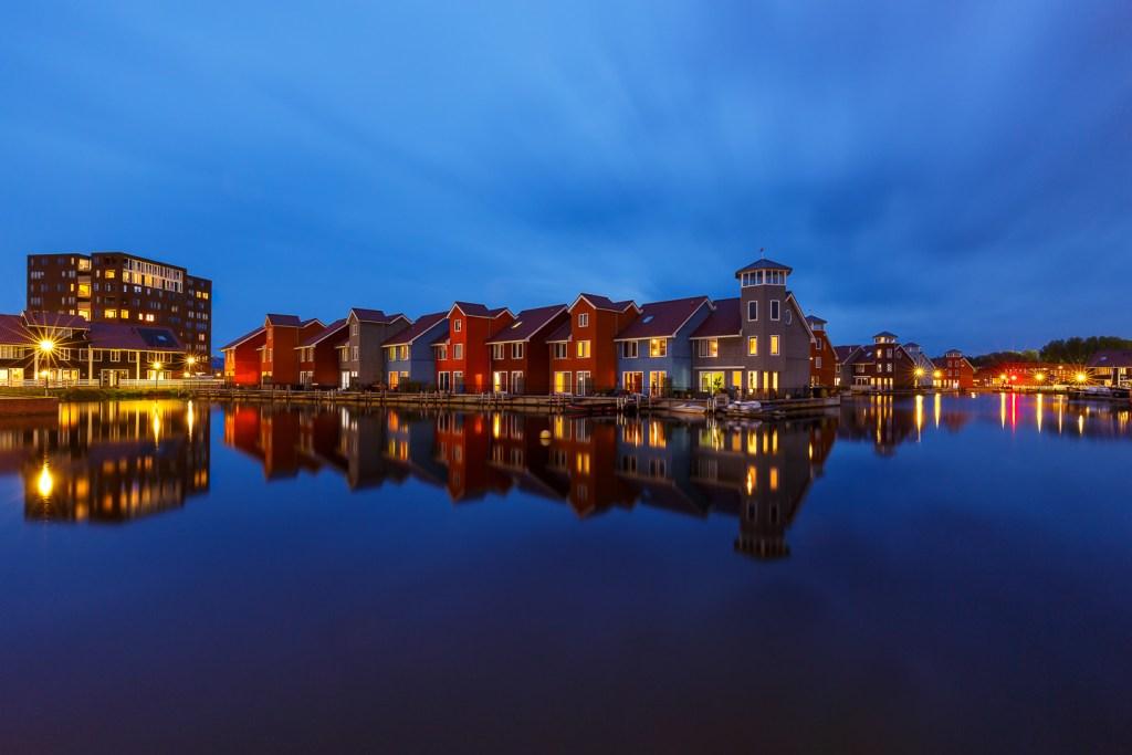 Groningen, Reitdiephaven, blauwe uur, blue hour, fotografie met vrienden