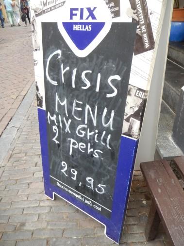 Crisis menu in Utrecht