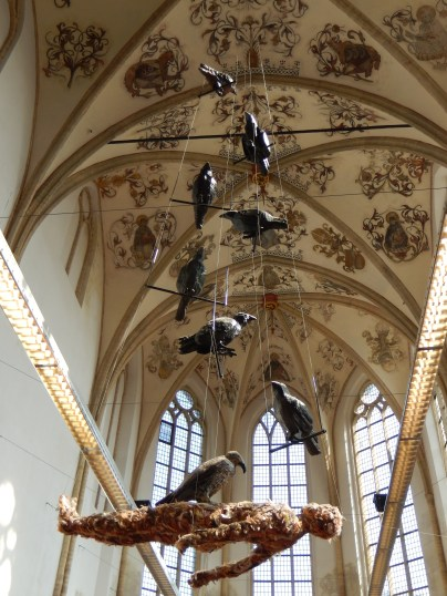 Artwork at the Zutphen public library (hosted in a former church)