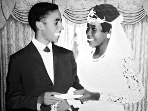 Bob and Rita Marley on their wedding day