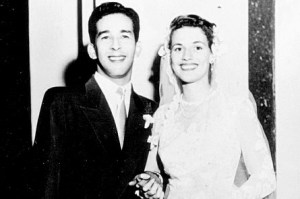 Valerie and Maurice on their wedding day