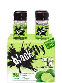 Black Fly Vodka Lime 4 Pack