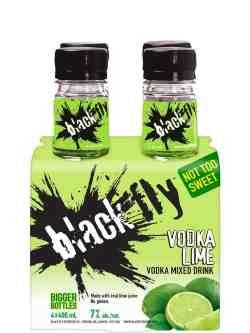 Black Fly Vodka Lime 4 Pack