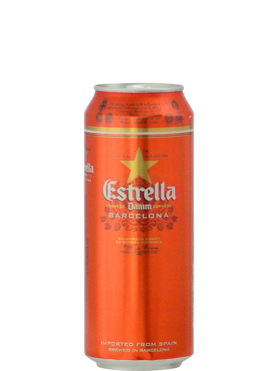 Estrella Damm Lager 500ml Can