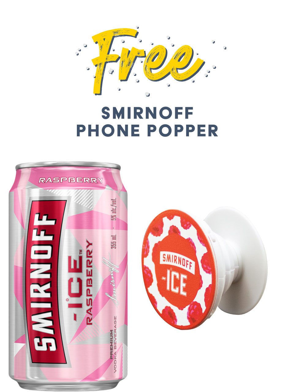Smirnoff Ice Raspberry 6 Pack Cans