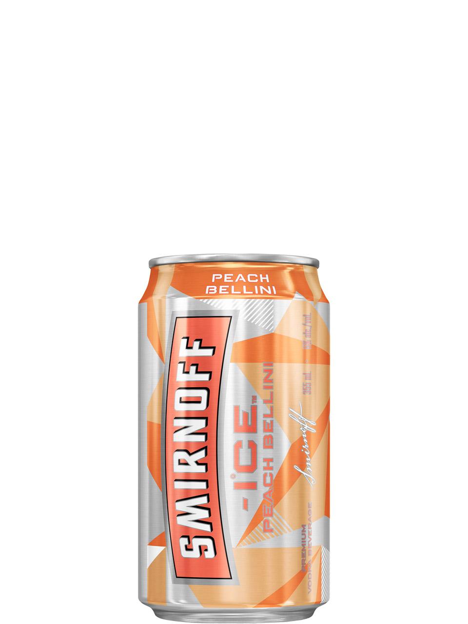 Smirnoff Ice Peach Bellini 6 Pack Cans