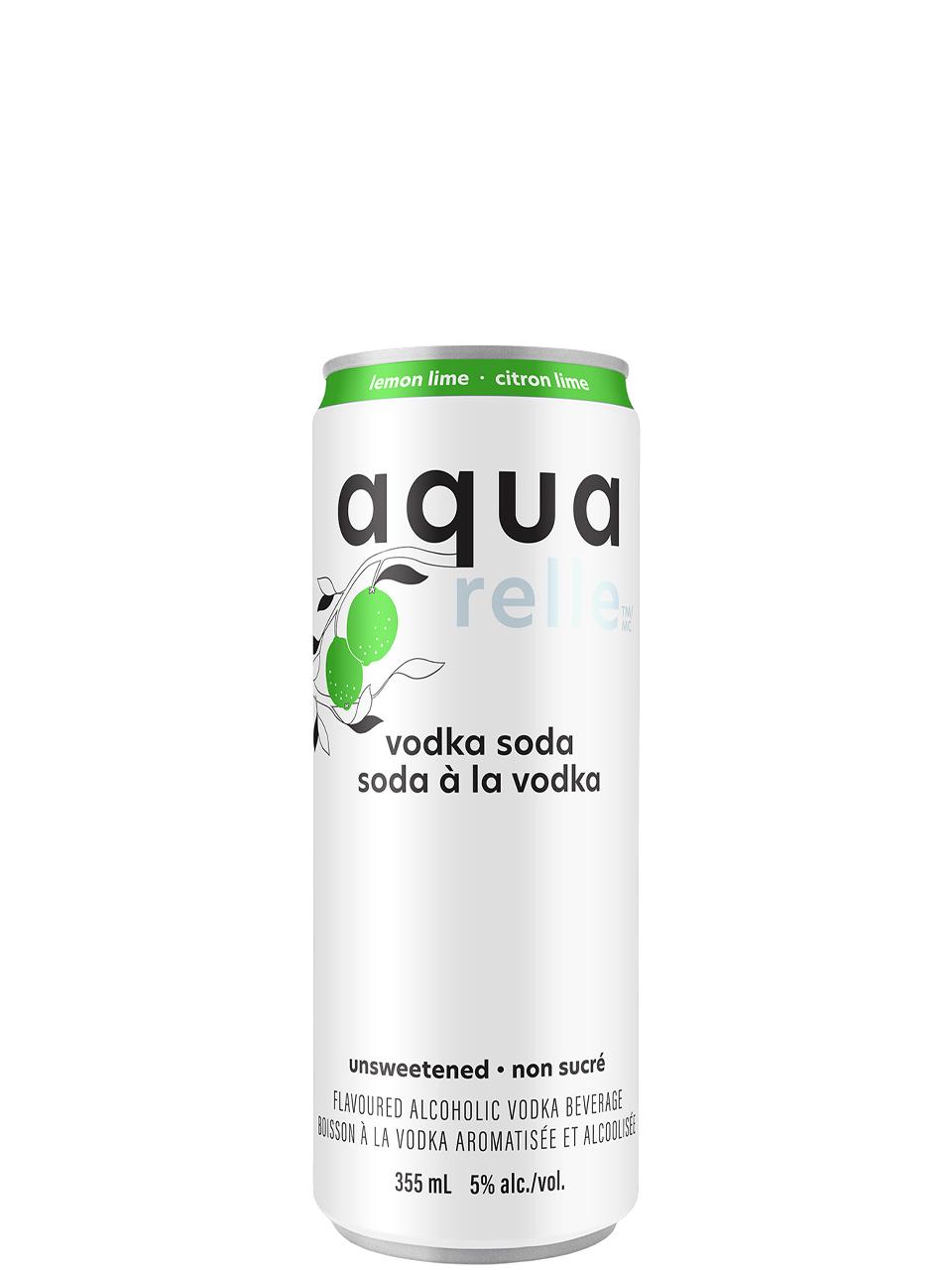 Aquarelle Lemon Lime Sparkling Water 6 Pack Cans