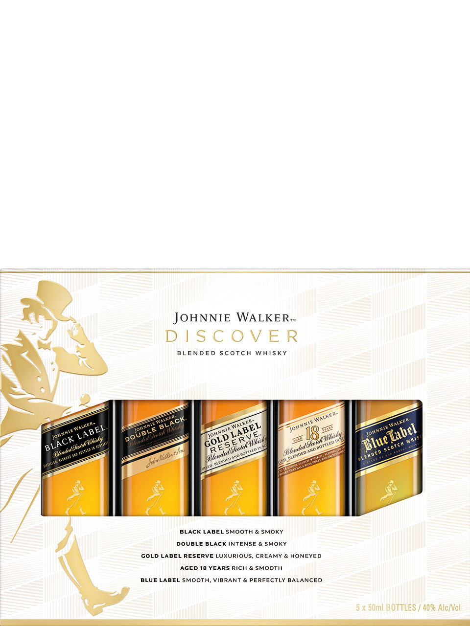 Johnnie Walker Discover Tasting Pack 5x50ml