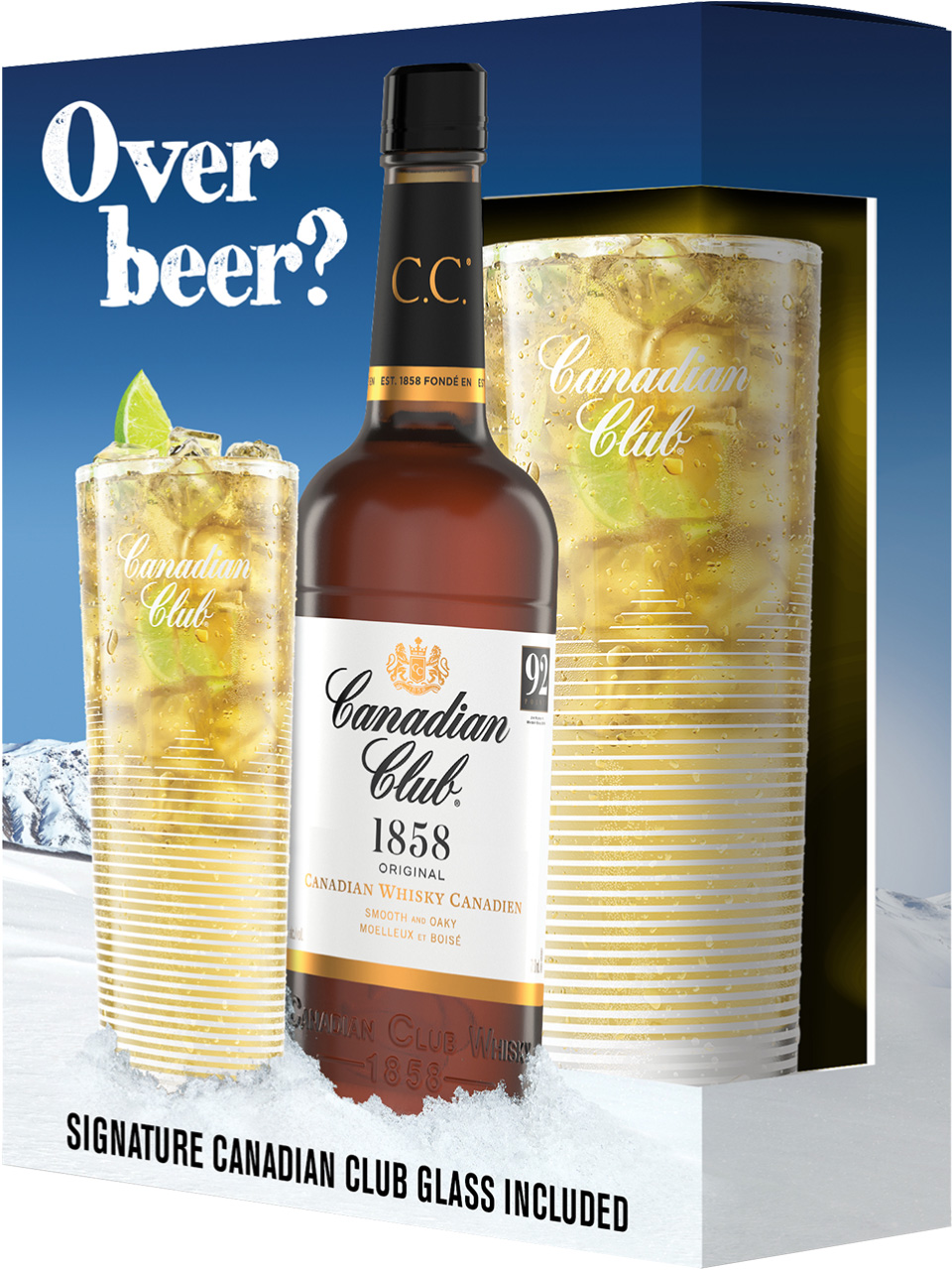 Canadian Club Whisky with Glass Gift Pack