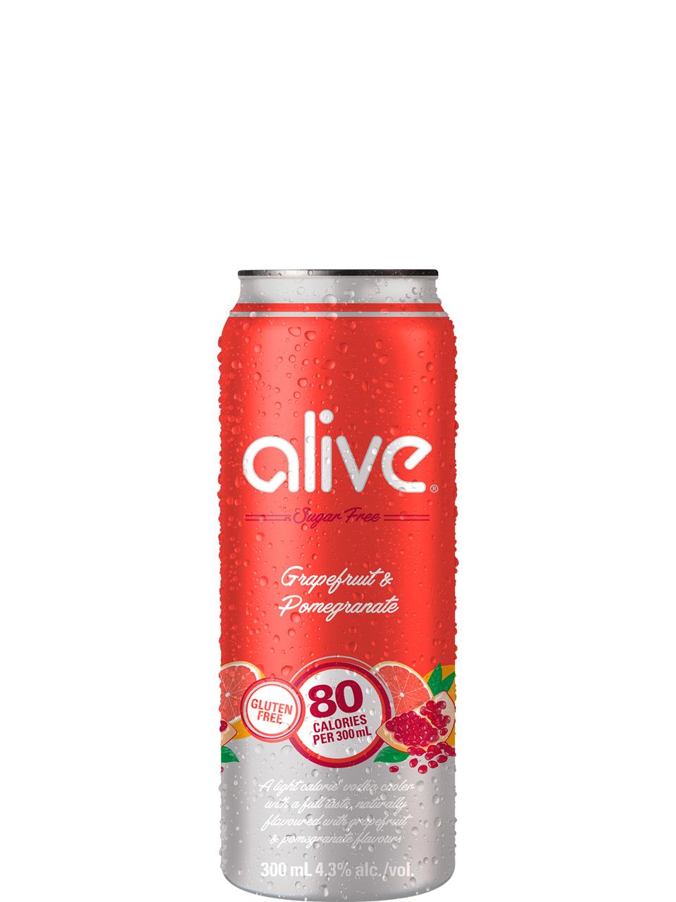 Alive by Vodka 0 Grapefruit & Pomegranate 4pk