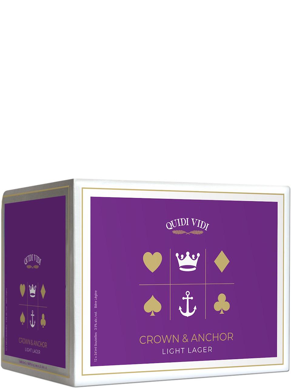 Quidi Vidi Crown & Anchor Light Lager 12pk Btls