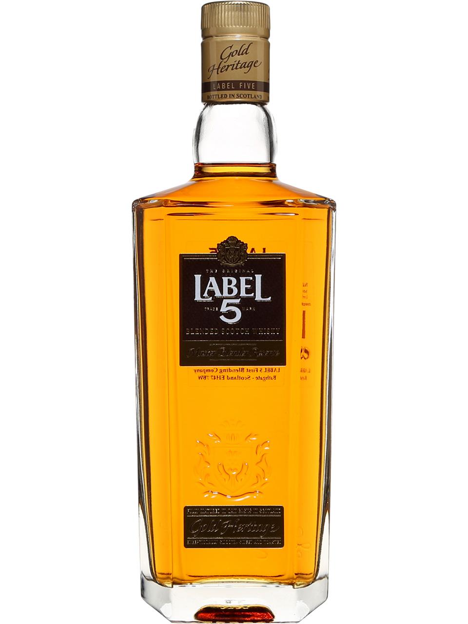 Label 5 Gold Heritage Scotch Whisky