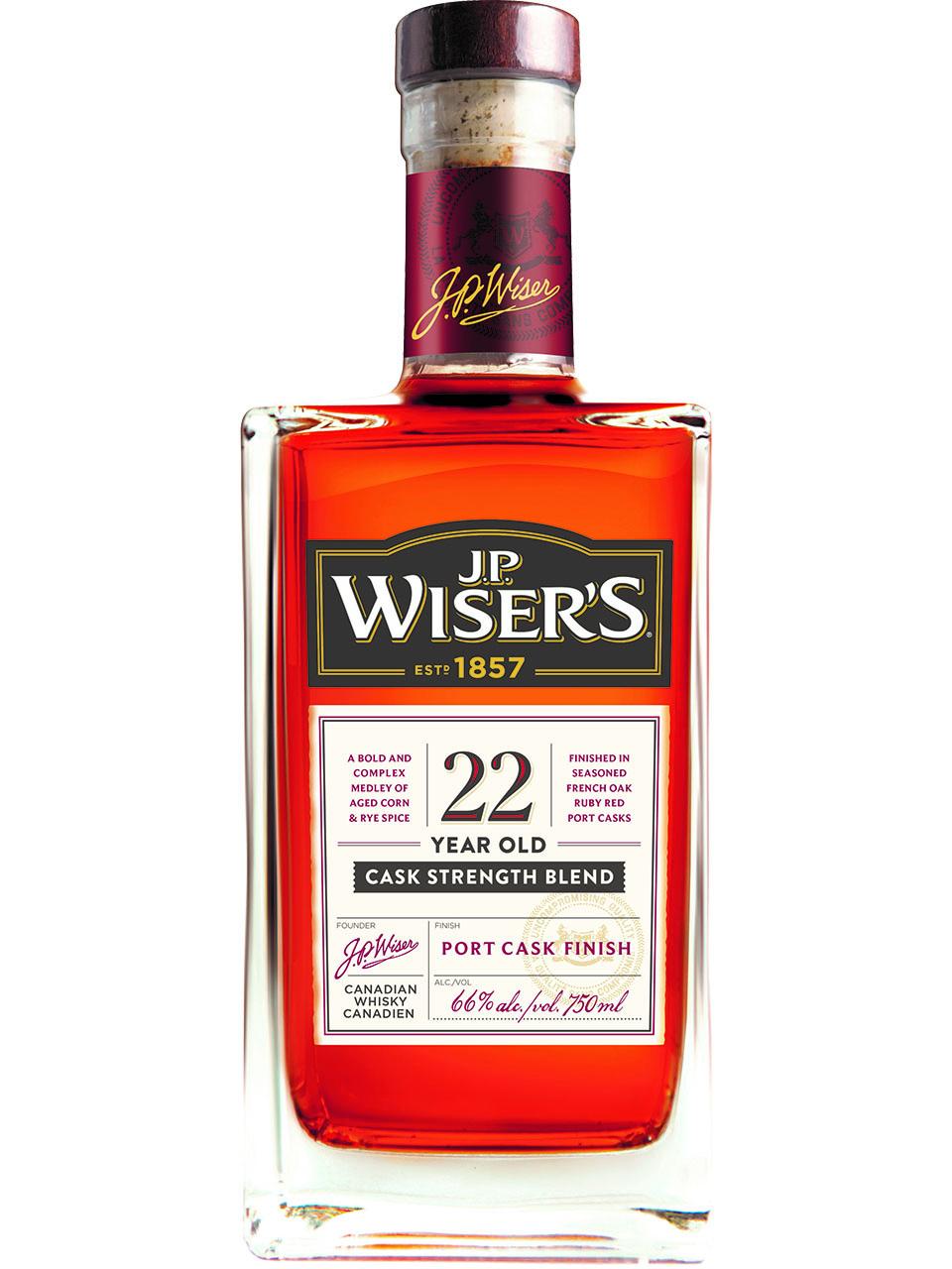 J.P. Wiser's Cask Strength Port Barrel Finish