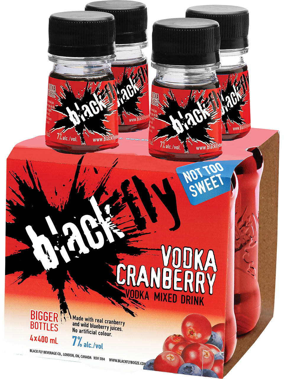 Black Fly Vodka Cranberry Mixed Drink 4pk
