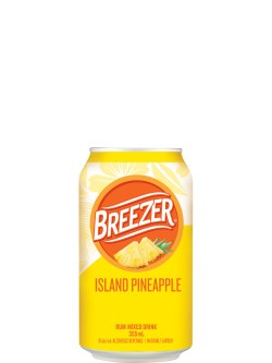 Breezer Island Pineapple 6 Pack Cans