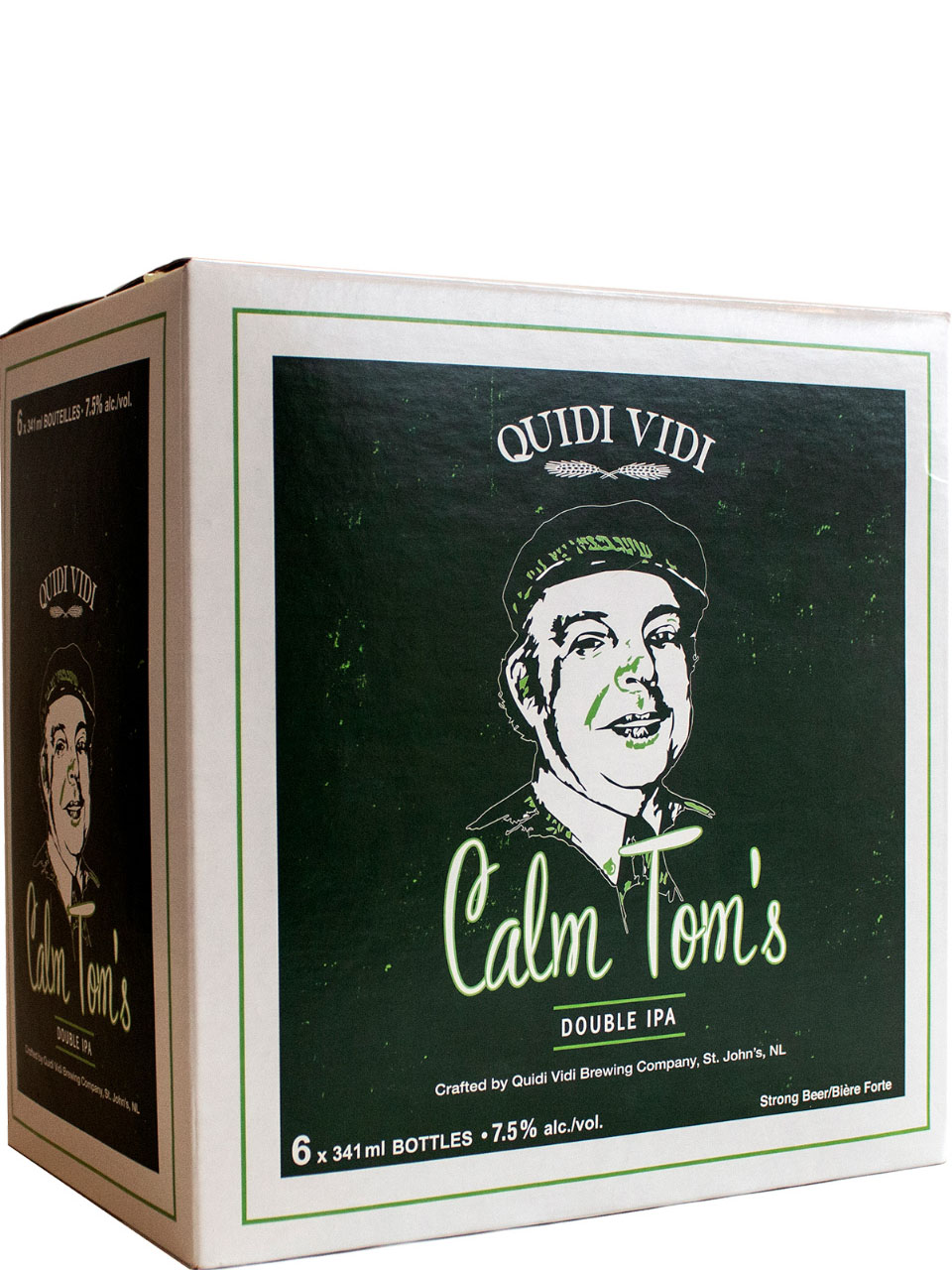 Quidi Vidi Calm Tom's Double IPA 6 Pack Bottles