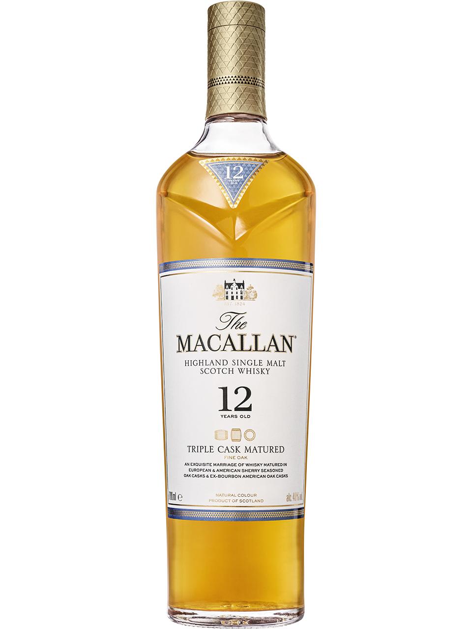 The Macallan Triple Cask 12 YO Single Malt Scotch