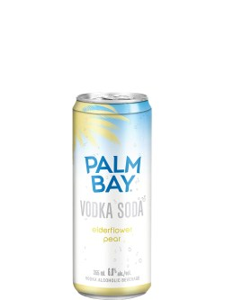 Palm Bay Elderflower Pear Vodka Soda 6 Pack Cans