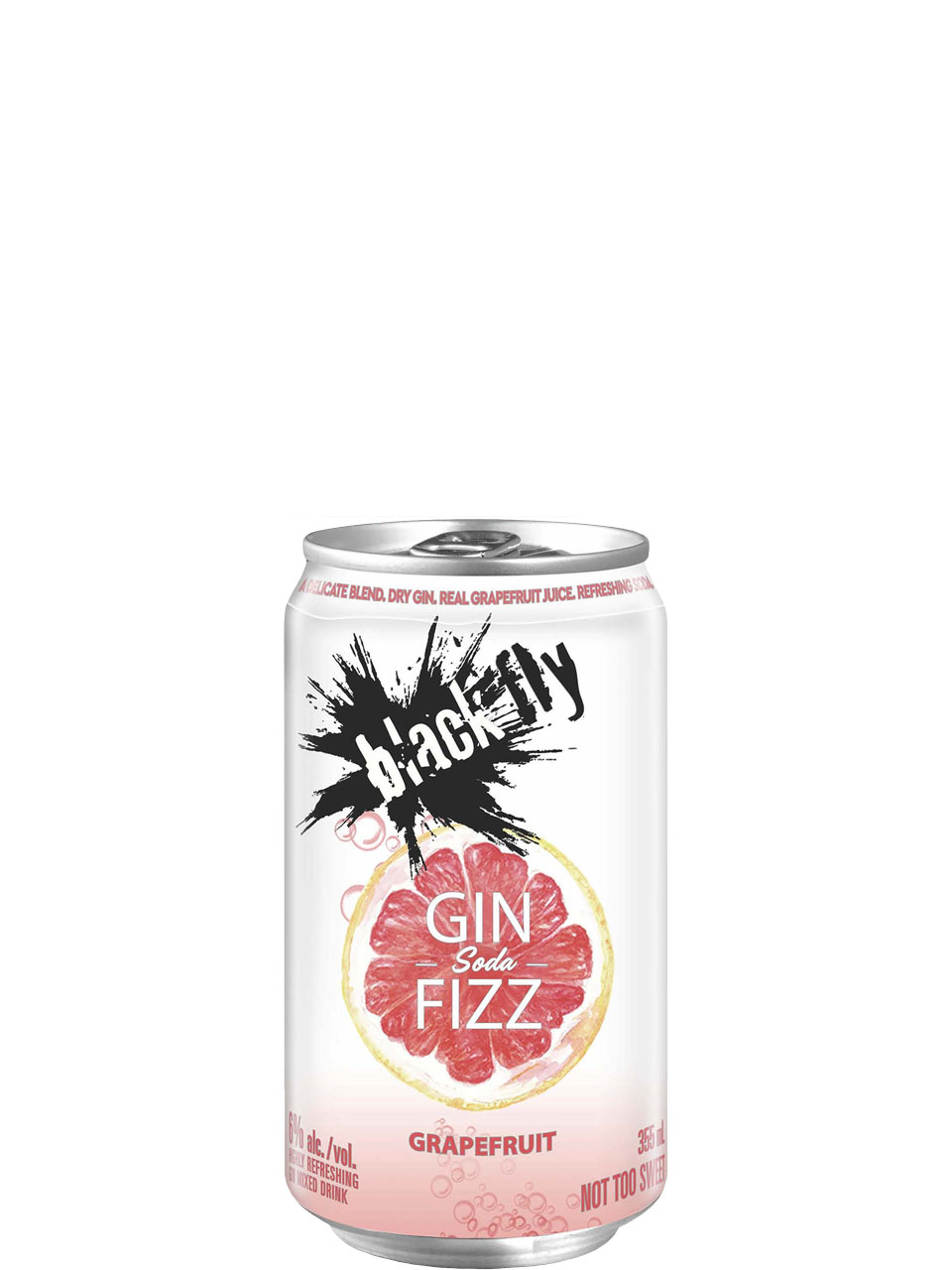 Black Fly Gin Fizz Grapefruit Soda 4 Pack Cans