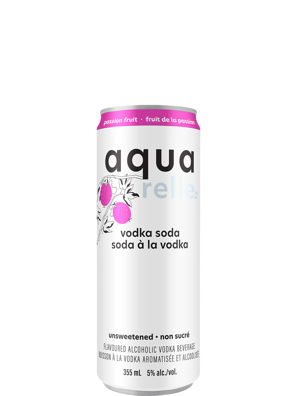 Aquarelle Passionfruit Sparkling Water 6 Pack Cans