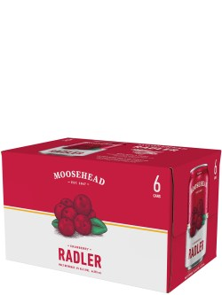 Moosehead Cranberry Radler 6 Pack Cans