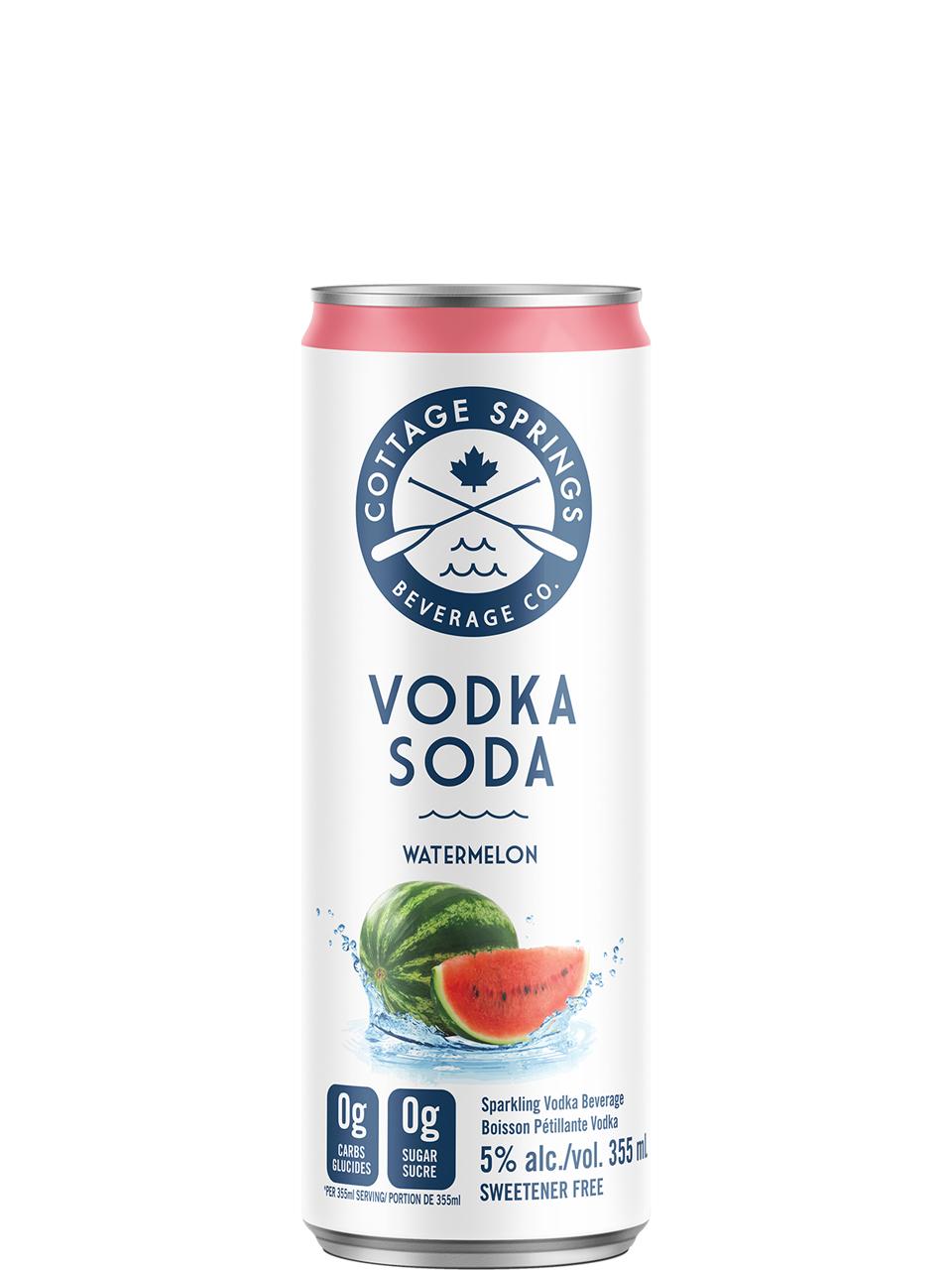 Cottage Springs Vodka Soda Watermelon