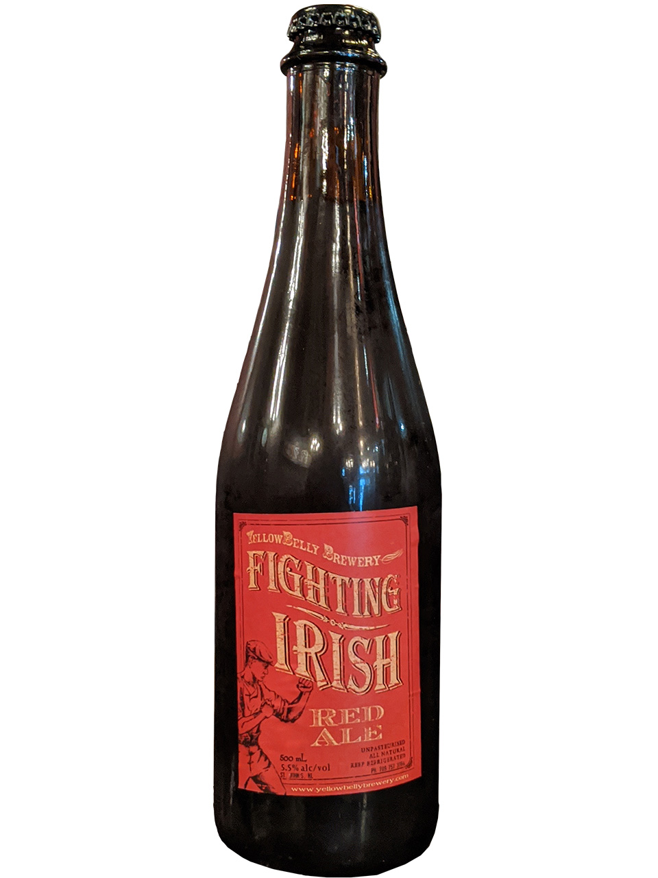 YellowBelly Fighting Irish Red Ale 500ml Bottle