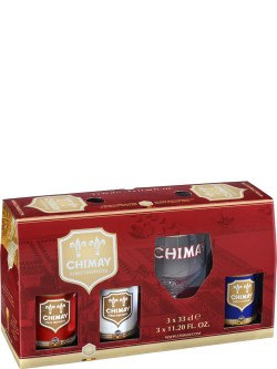 Chimay Trilogy Pack with Glass