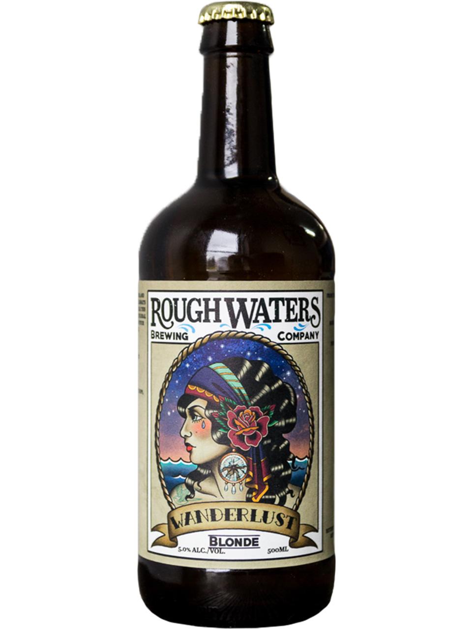 Rough Waters Wanderlust Blonde Ale 500ml Bottle