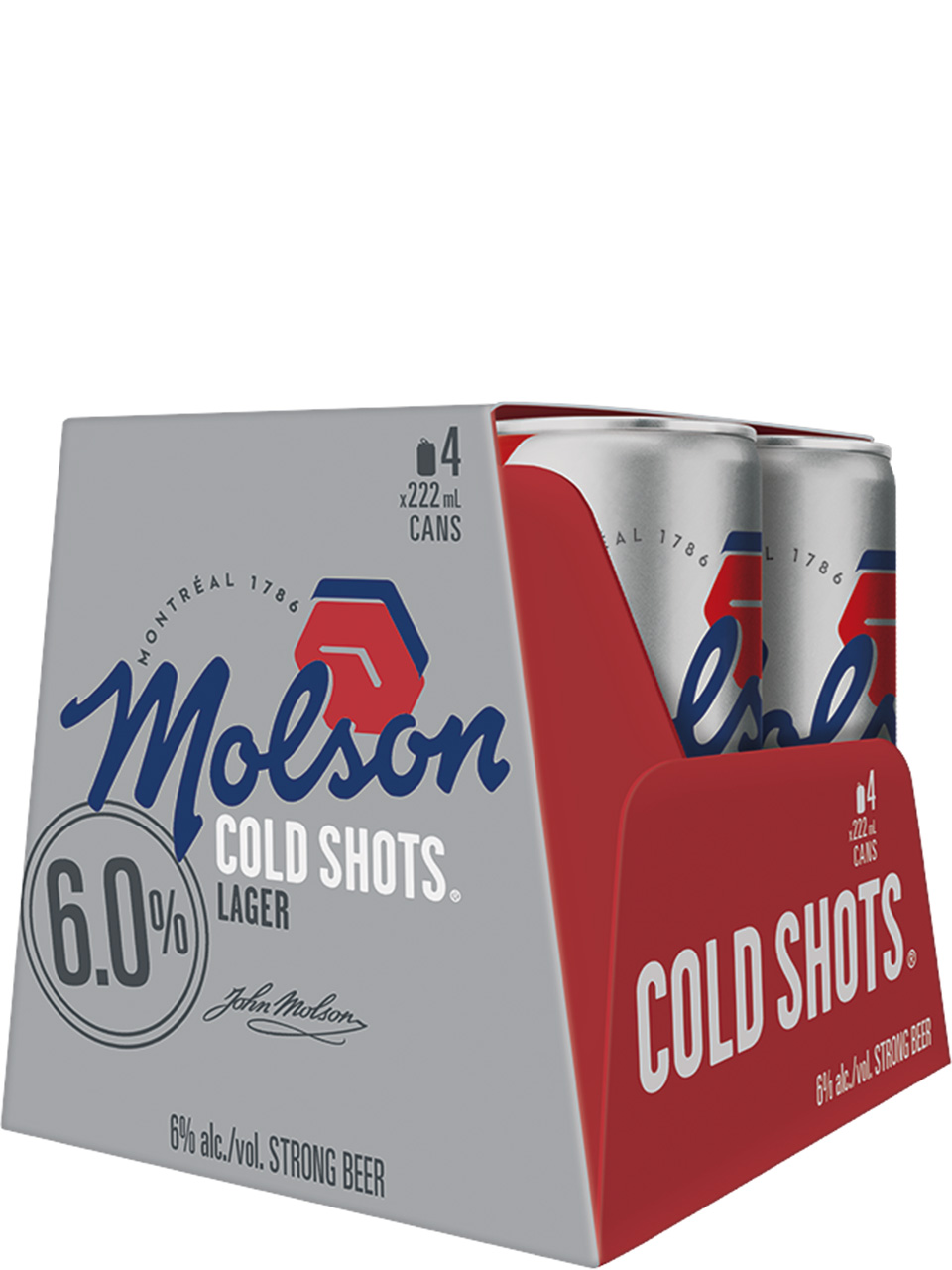 Molson Canadian Cold Shots 4 Pack Cans