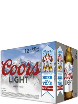 Coors Light 12 Pack Bottles
