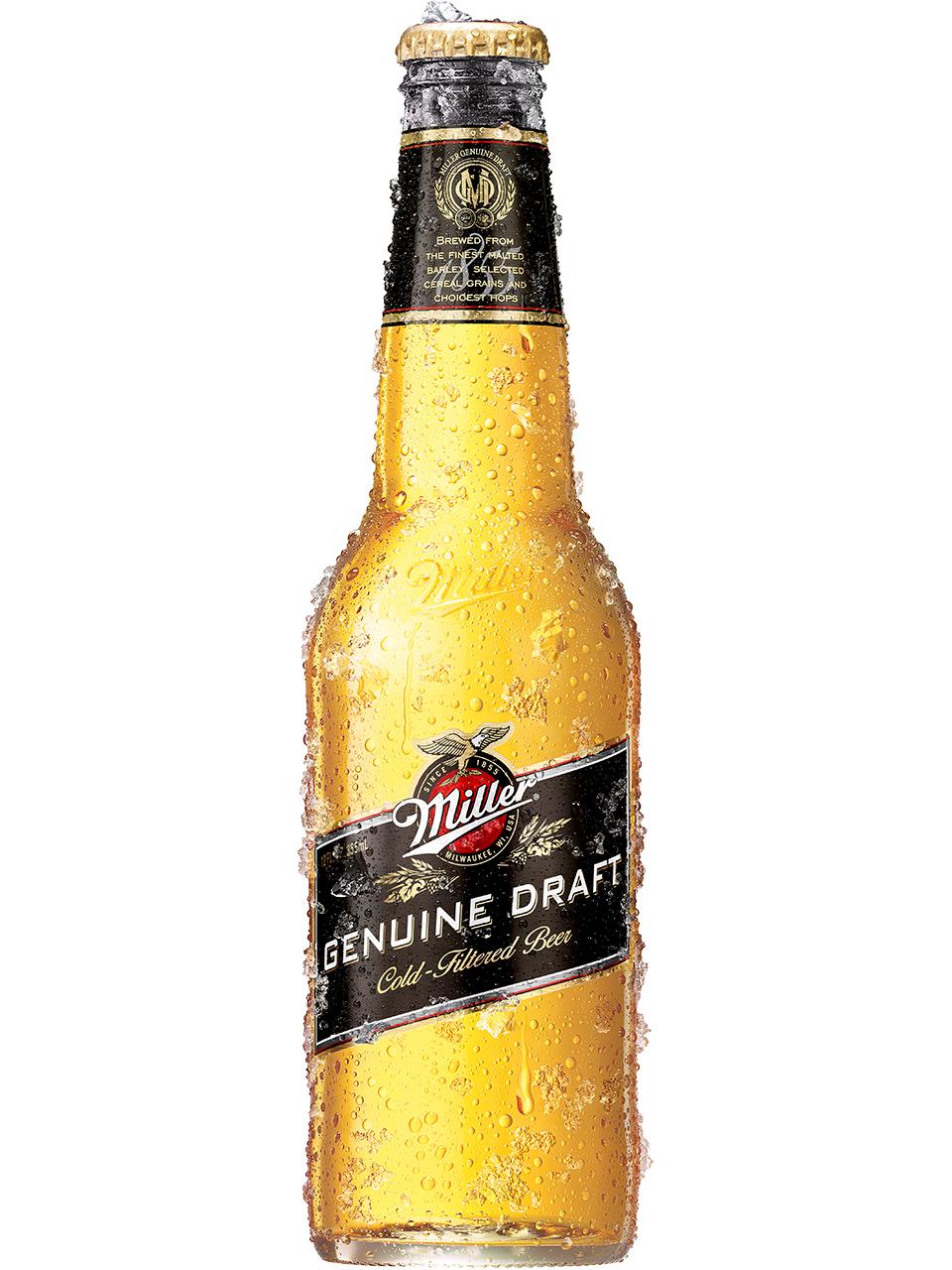 Miller Genuine Draft 6 Pack Bottles